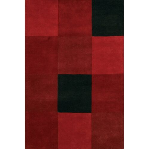 Laurent Red/Black Area Rug Rug Size: Rectangle 5' x 7'6
