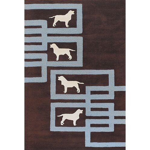 Valencia Brown/Blue Area Rug Rug Size: Rectangle 5' x 7'6