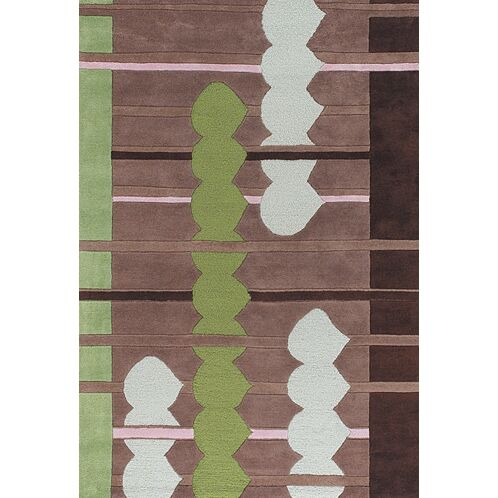 Melynnie Brown/Green Area Rug Rug Size: Rectangle 5' x 7'6