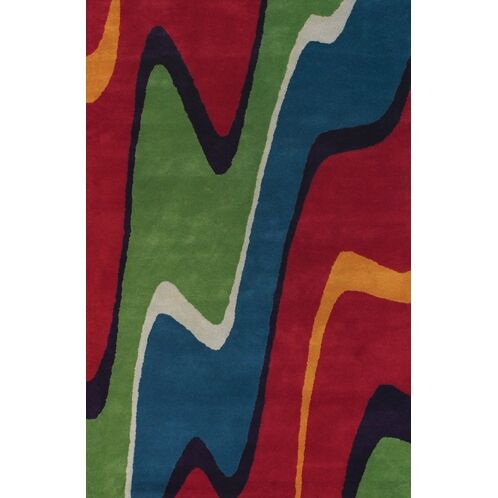 Stickel Hand Woven Red/Green Area Rug Rug Size: Rectangle 5' x 7'6