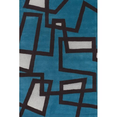 Stickel Blue/White Area Rug Rug Size: Rectangle 7'9