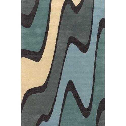 Stickel Blue/Green Area Rug Rug Size: Round 7'9