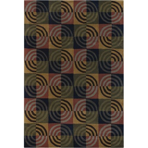 Altamirano Green/Tan Area Rug Rug Size: Rectangle 7'9