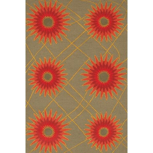 Steveson Contemporary Wool Rug Rug Size: Rectangle 5' x 7'6
