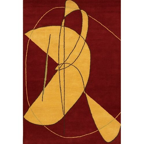 Krysta Contemporary Wool Rug Rug Size: Rectangle 5' x 7'6