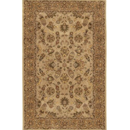 Curland Wool Brown/Tan Area Rug Rug Size: Rectangle 7'9