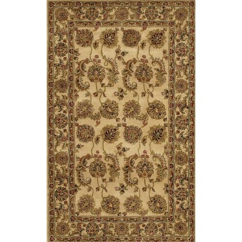 Angel Handmade Brown/Tan Area Rug Rug Size: Rectangle 5' x 7'6