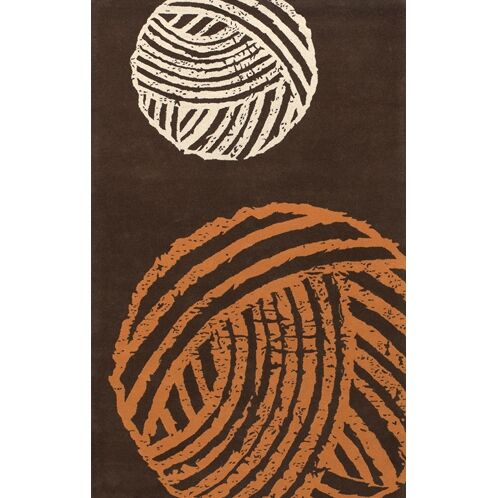 Brown/Orange Area Rug Rug Size: Rectangle 7'9