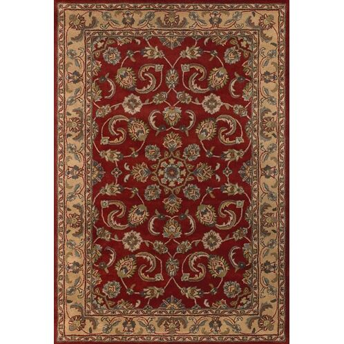 Parnassus Traditional Wool Rug Rug Size: Round 7'9