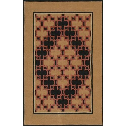 Don Brown/Tan Area Rug Rug Size: 5' x 7'6