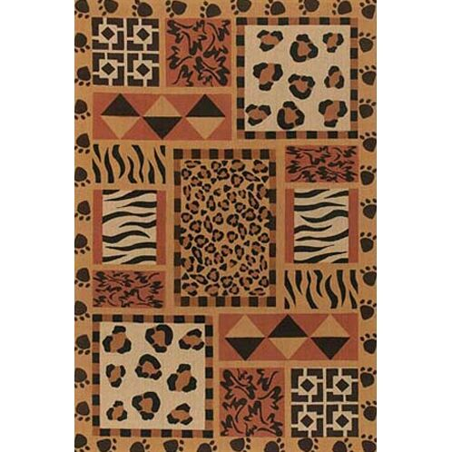 Doctor Phillips Brown Animal Print Area Rug Rug Size: Square 7'9