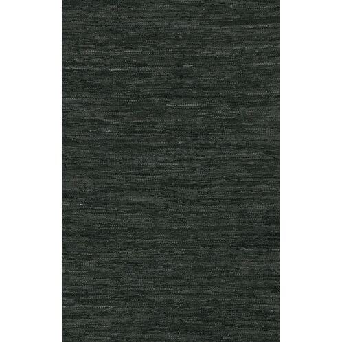 Bardette Hand Woven Black Area Rug Rug Size: 7'9
