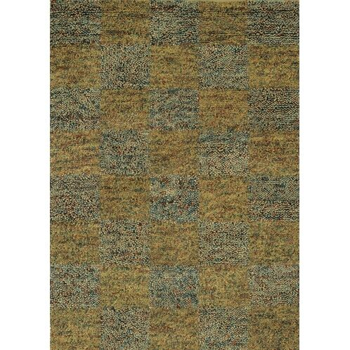 Strata Blue/Gold Area Rug Rug Size: Rectangle 5' x 7'6