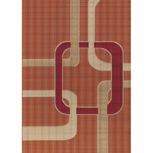 Bunce Orange Indoor/Outdoor Area Rug Rug Size: Rectangle 3'6