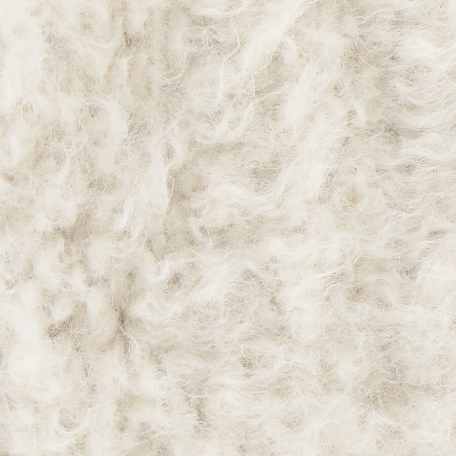 Alldredge Textured Contemporary Shag Ivory Area Rug Rug Size: 5' x 7'6