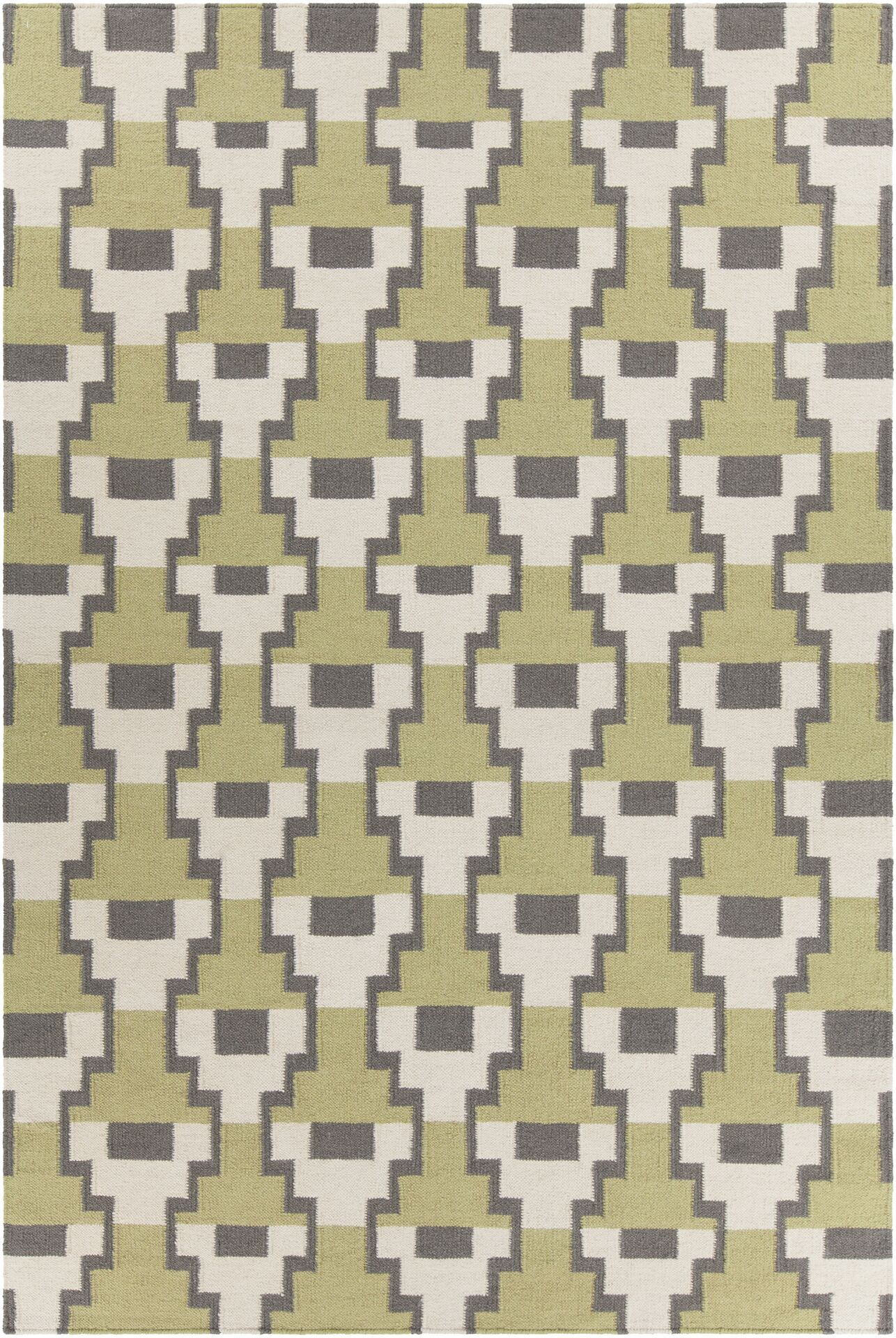 Charlene Textured Contemporary Green Area Rug Rug Size: 5' x 7'6