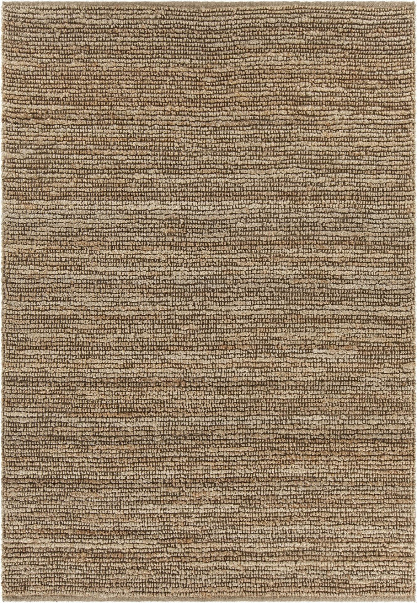 Lilliana Hand-Woven Textured Jute Area Rug Rug Size: Rectangle 7'9