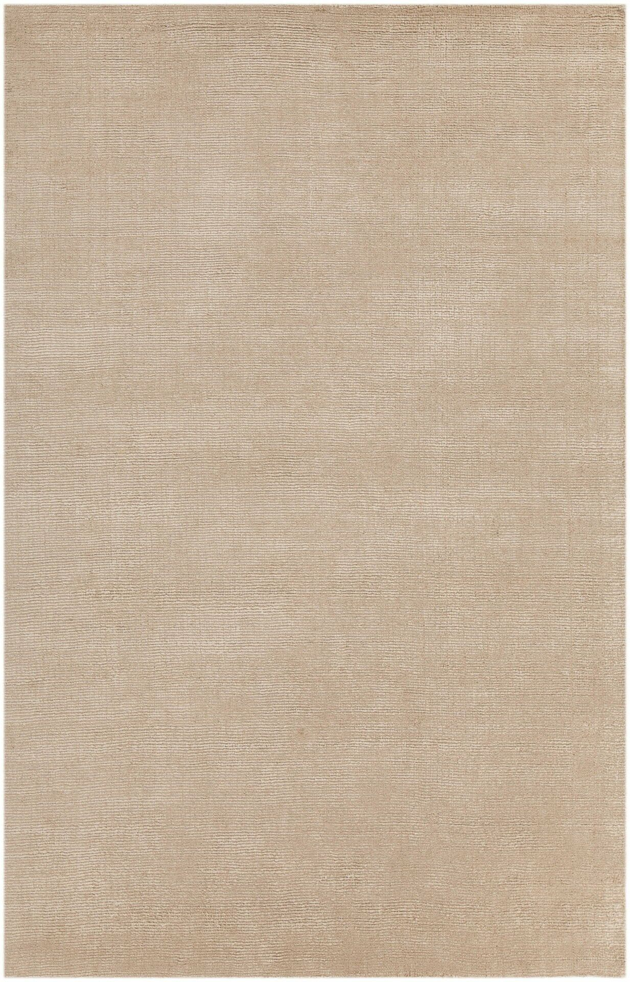 Greger Solid Tan Area Rug Rug Size: 5' x 7'6