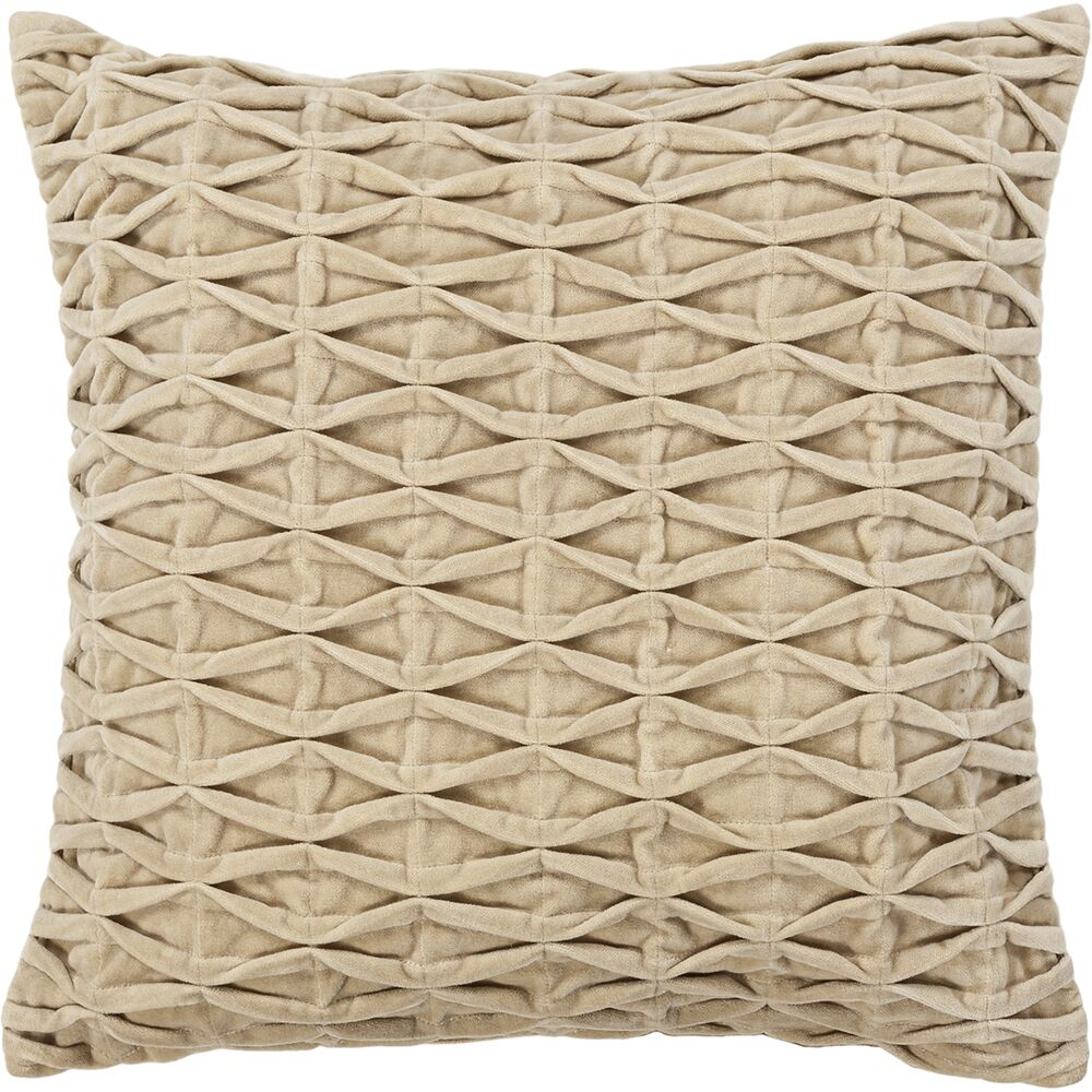 Sasu Textured Beige Throw Pillow Size: 22