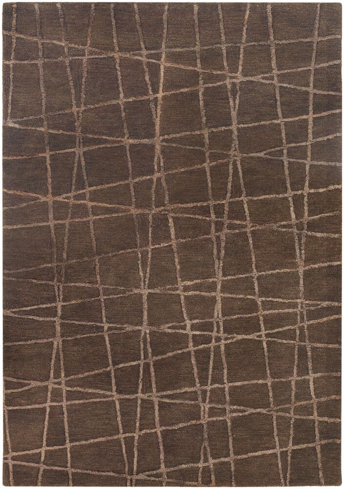 Priscilla Patterned Contemporary Brown Area Rug Rug Size: 7'9