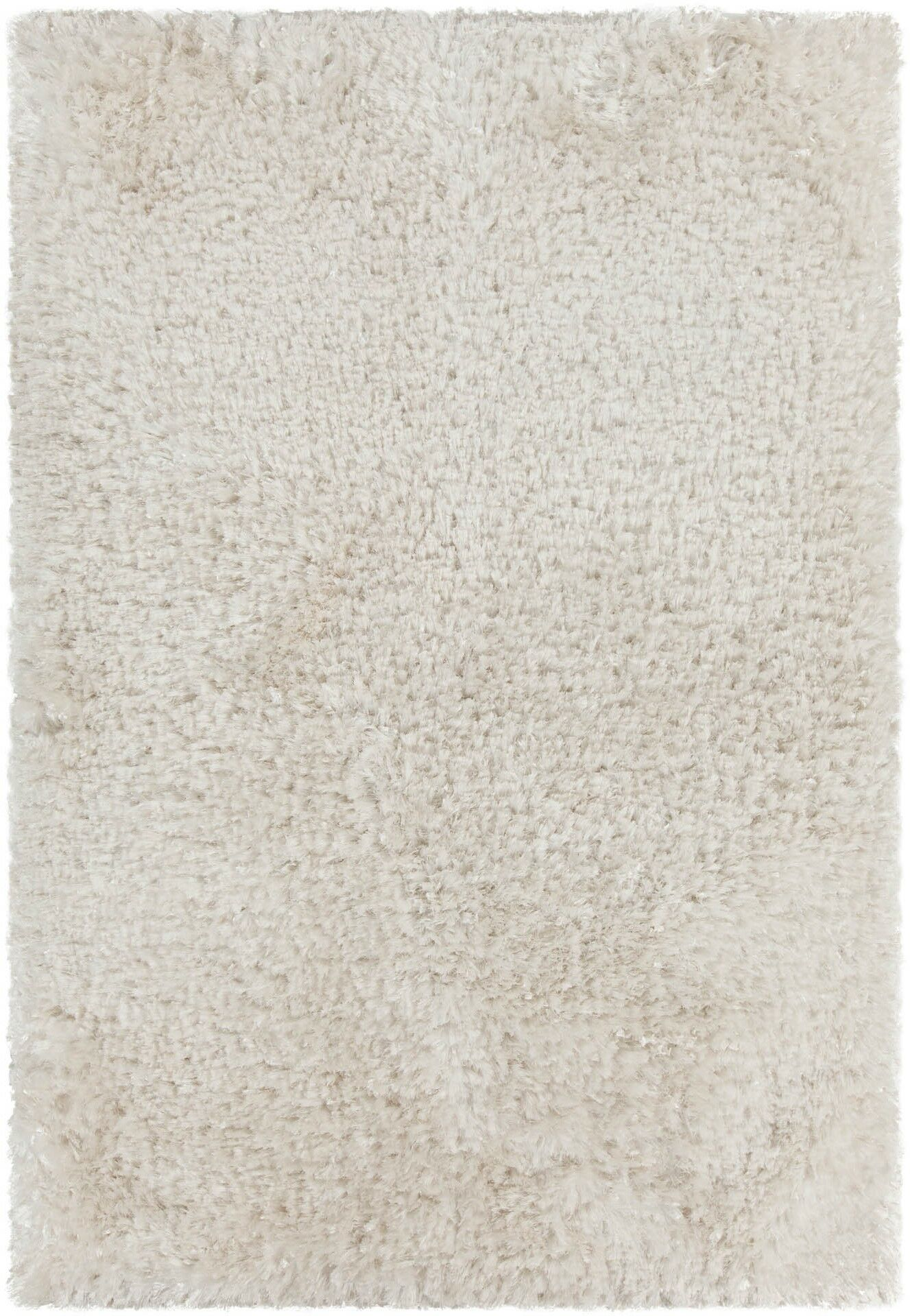 Mairead Textured Shag White Area Rug Rug Size: Round 7'9
