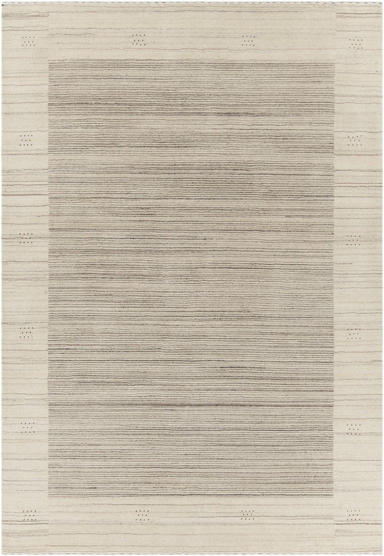 Roxanne Patterned Wool Beige Area Rug Rug Size: 5' x 7'6
