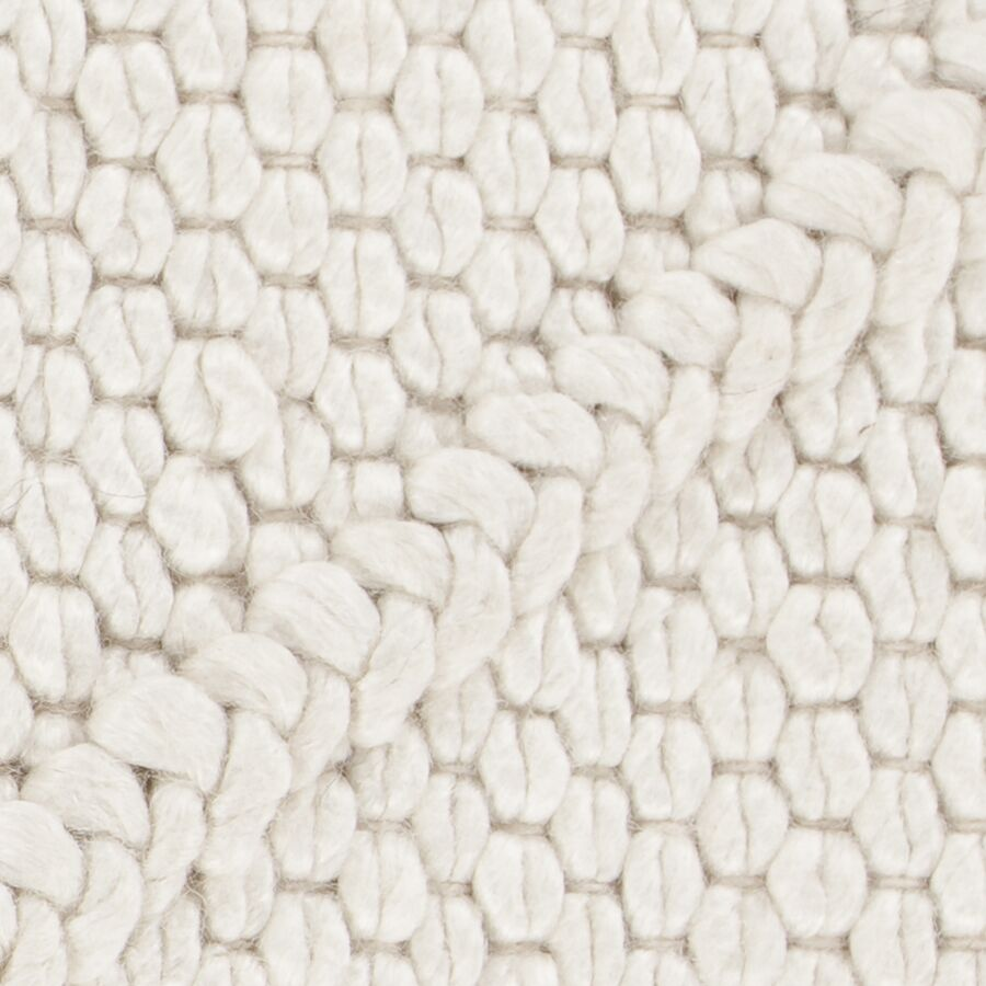 Arend Hand Woven White Area Rug Rug Size: 5' x 7'6