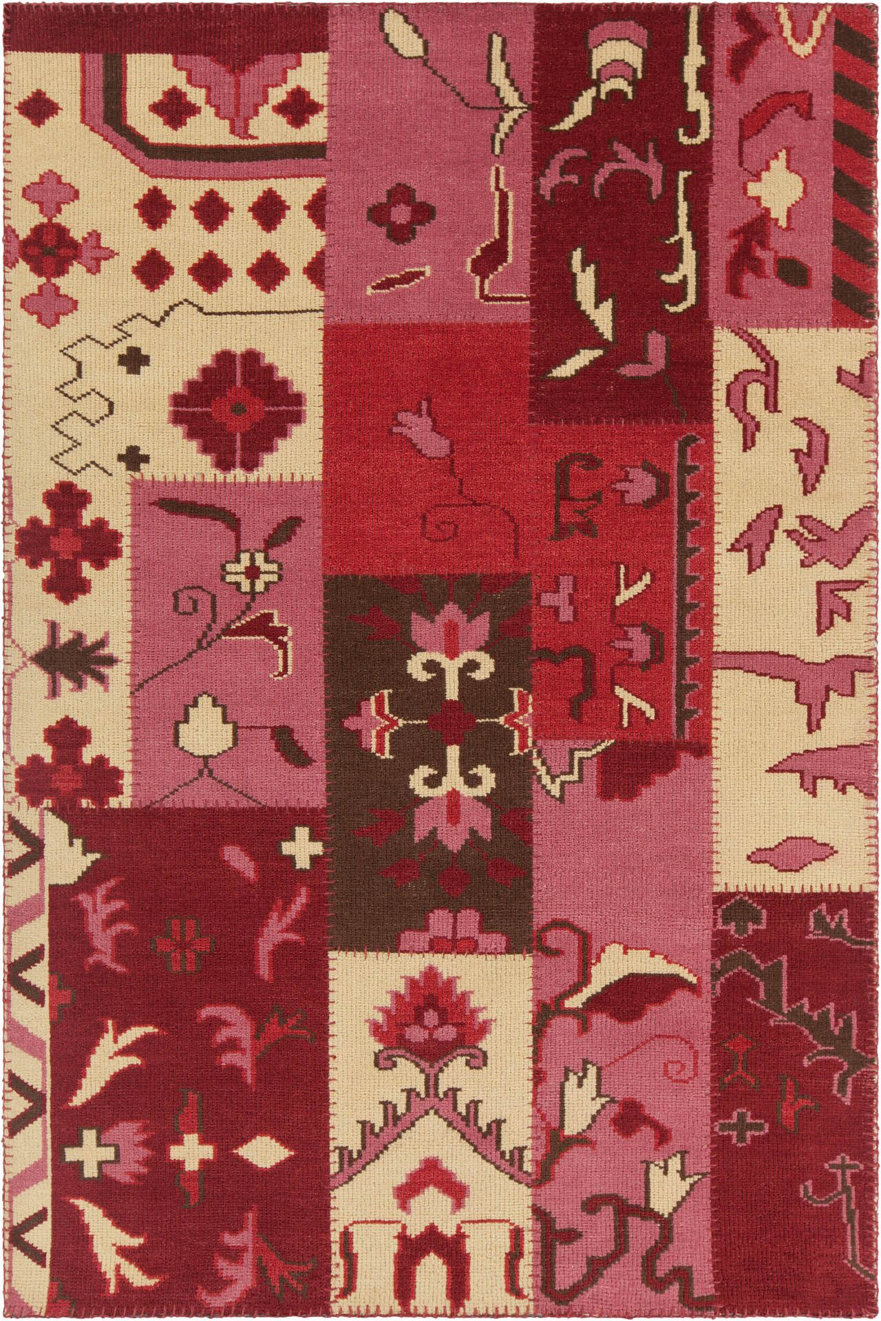 Casselman Patterned Contemporary Pink/Red Area Rug Rug Size: 7'9