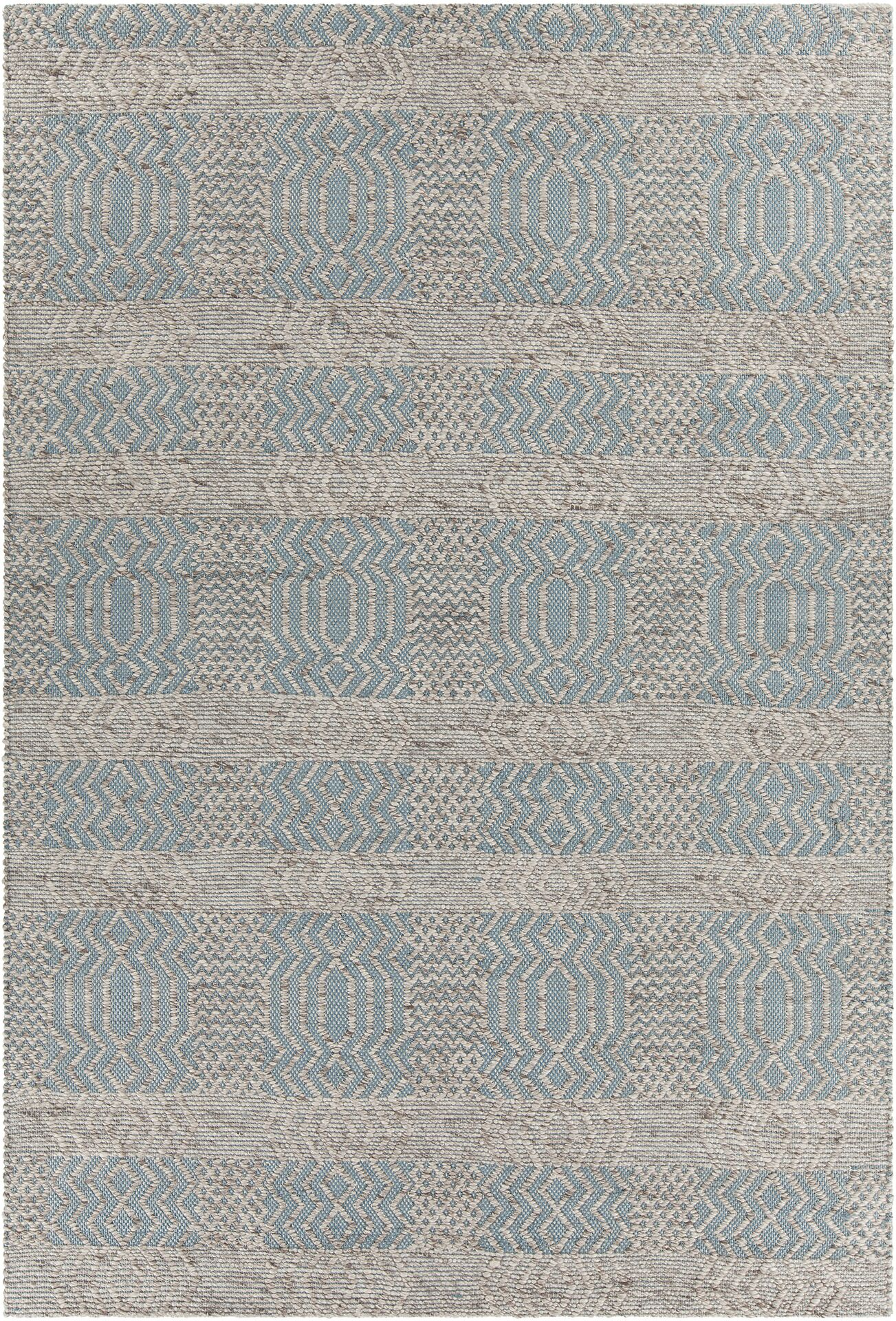Patwin Patterned Contemporary Blue/Natural Area Rug Rug Size: 7'9