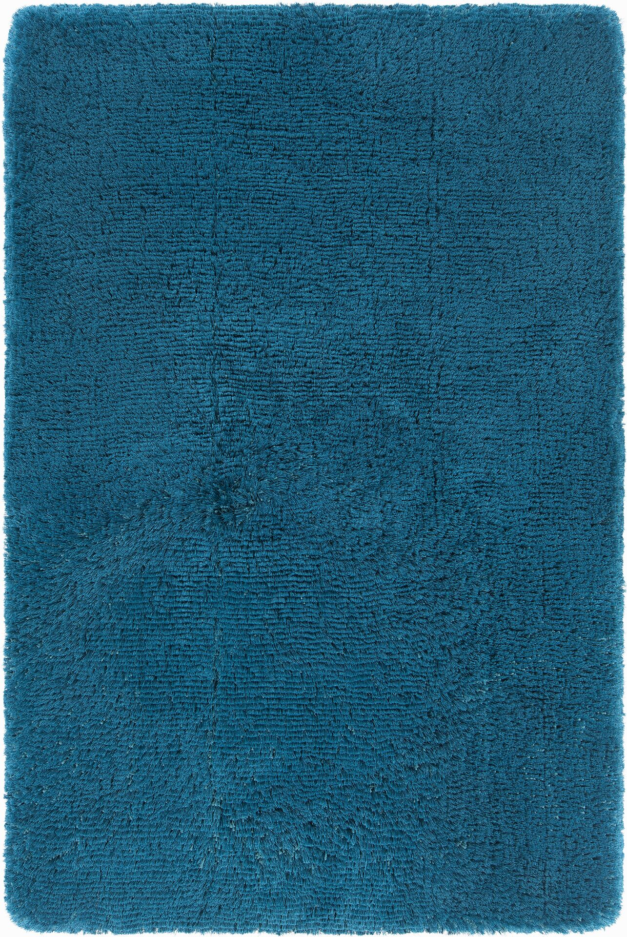Joellen Textured Contemporary Shag Blue Area Rug Rug Size: Rectangle 9' x 13'