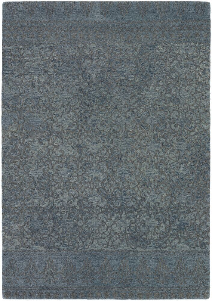 Atascadero Patterned Contemporary Wool Blue/Gray Area Rug Rug Size: 5' x 7'6