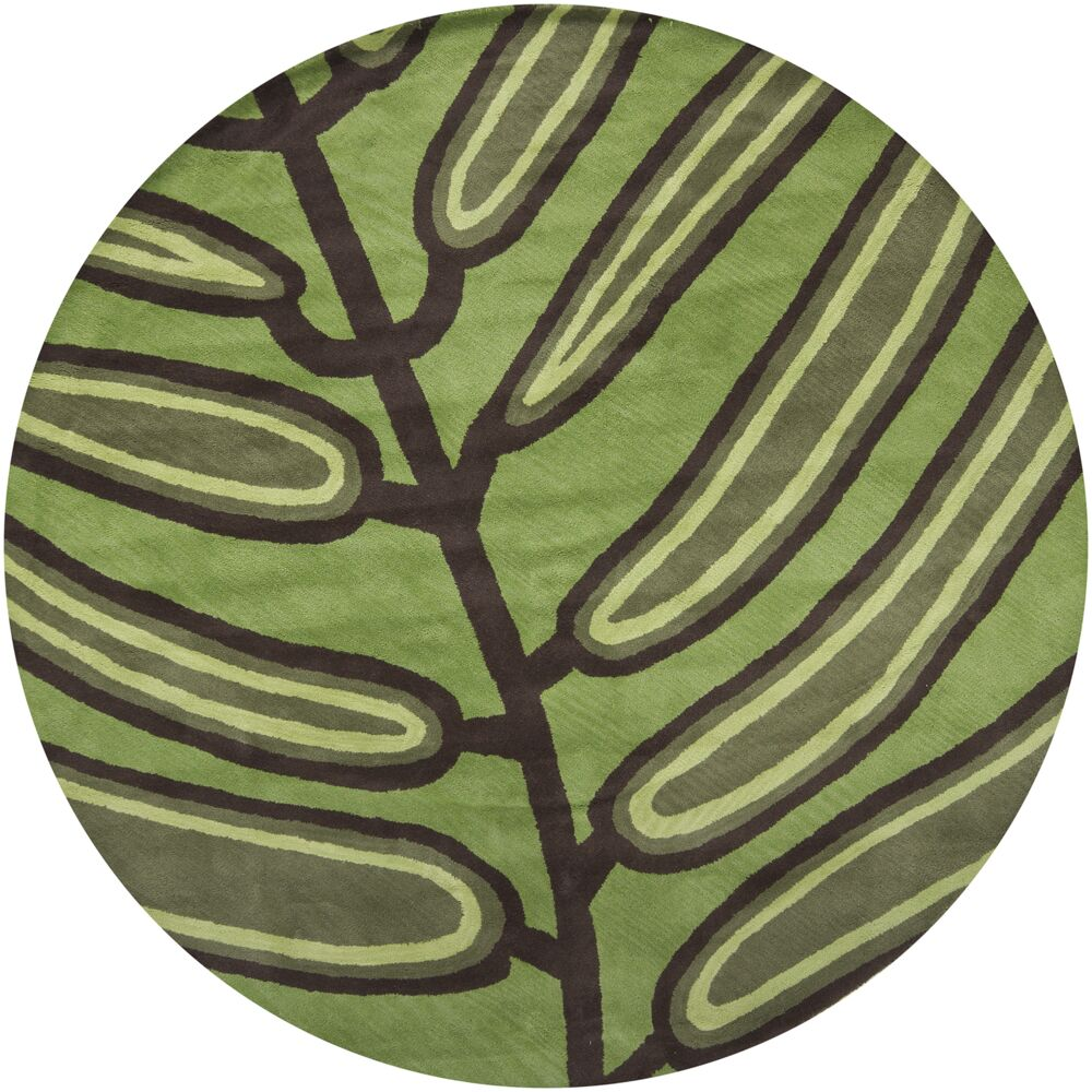 Steib Green Area Rug Rug Size: Rectangle 7'9