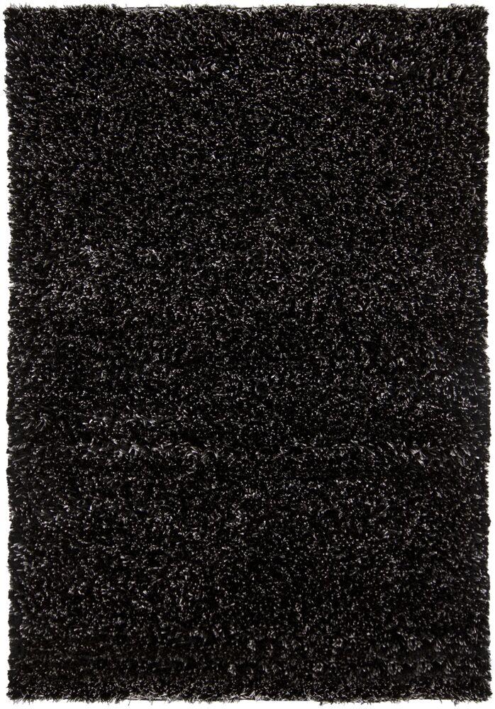 Themis Black Area Rug Rug Size: Round 7'9