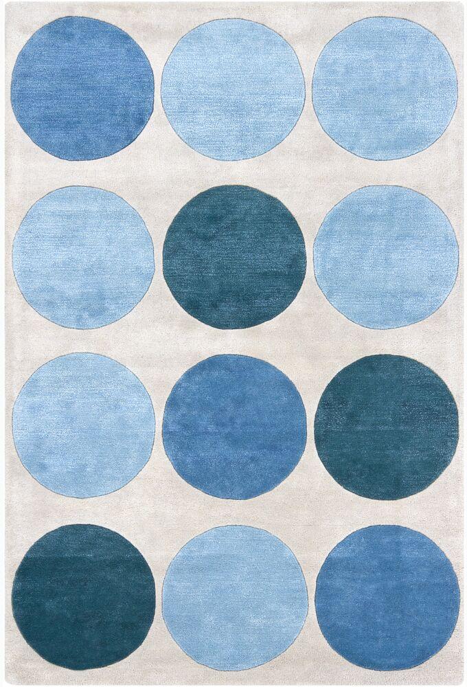 Hartman Hand Tufted Rectangle Contemporary Blue/Gray Area Rug