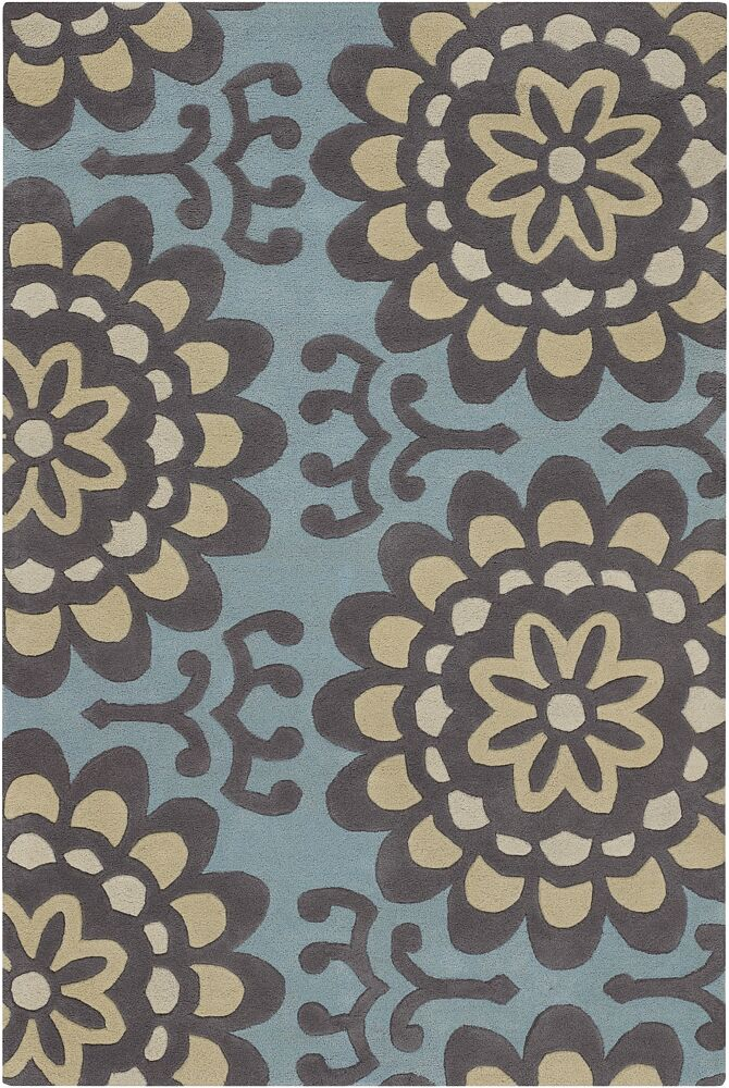 Burchell Blue Area Rug Rug Size: Rectangle 5' x 7'6
