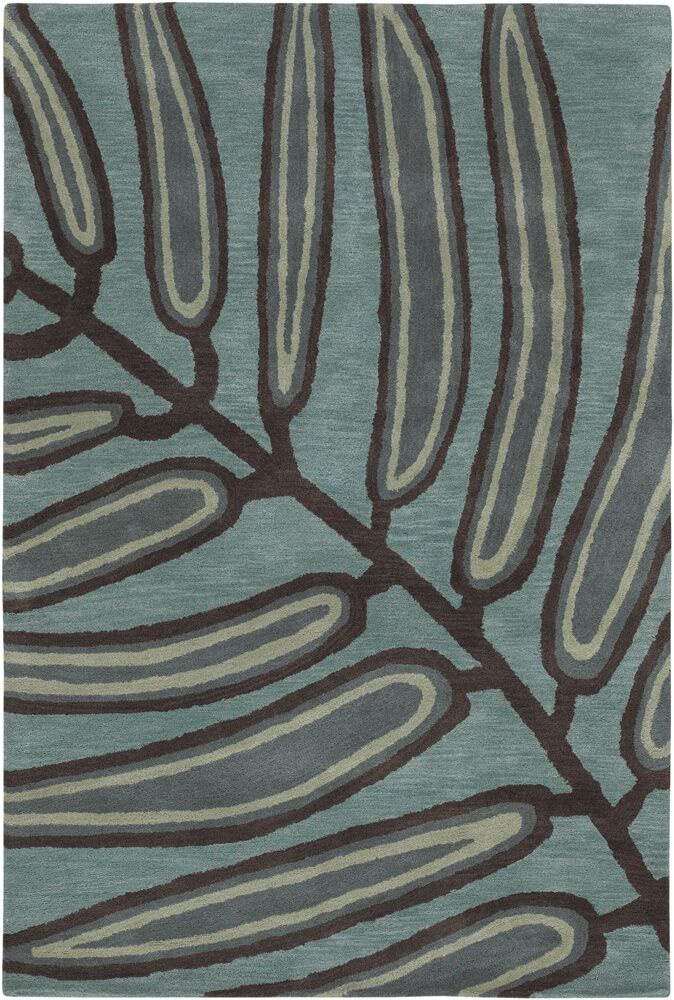 Steib Blue/Black Area Rug Rug Size: Rectangle 2' x 3'