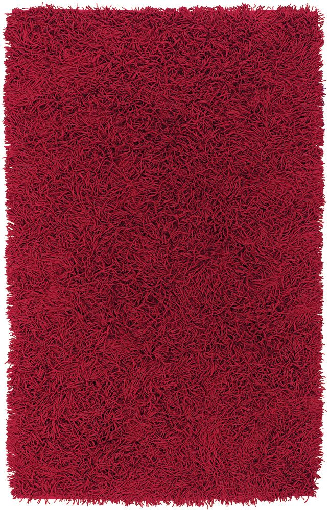 Anspach Red Area Rug Rug Size: Rectangle 2' x 3'