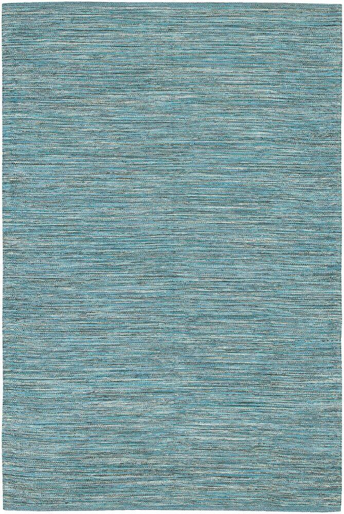 Elbeni Hand Woven Cotton Blue Area Rug Rug Size: 5' x 7'6