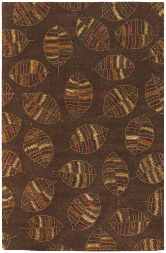 Donegal Brown Leaf Area Rug Rug Size: 2' x 3'