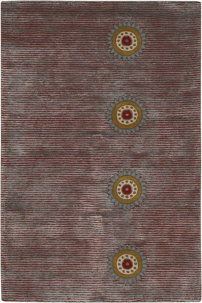 St. Charles Mesa Purple Stripe Area Rug Rug Size: 2' x 3'