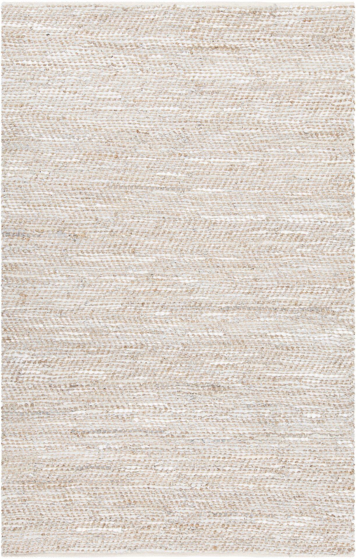 Polito Hand-Woven Silver Area Rug Rug Size: 5' x 7'6