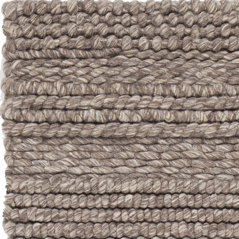 Penn Hand-Woven Brown Area Rug Rug Size: 9' x 13'
