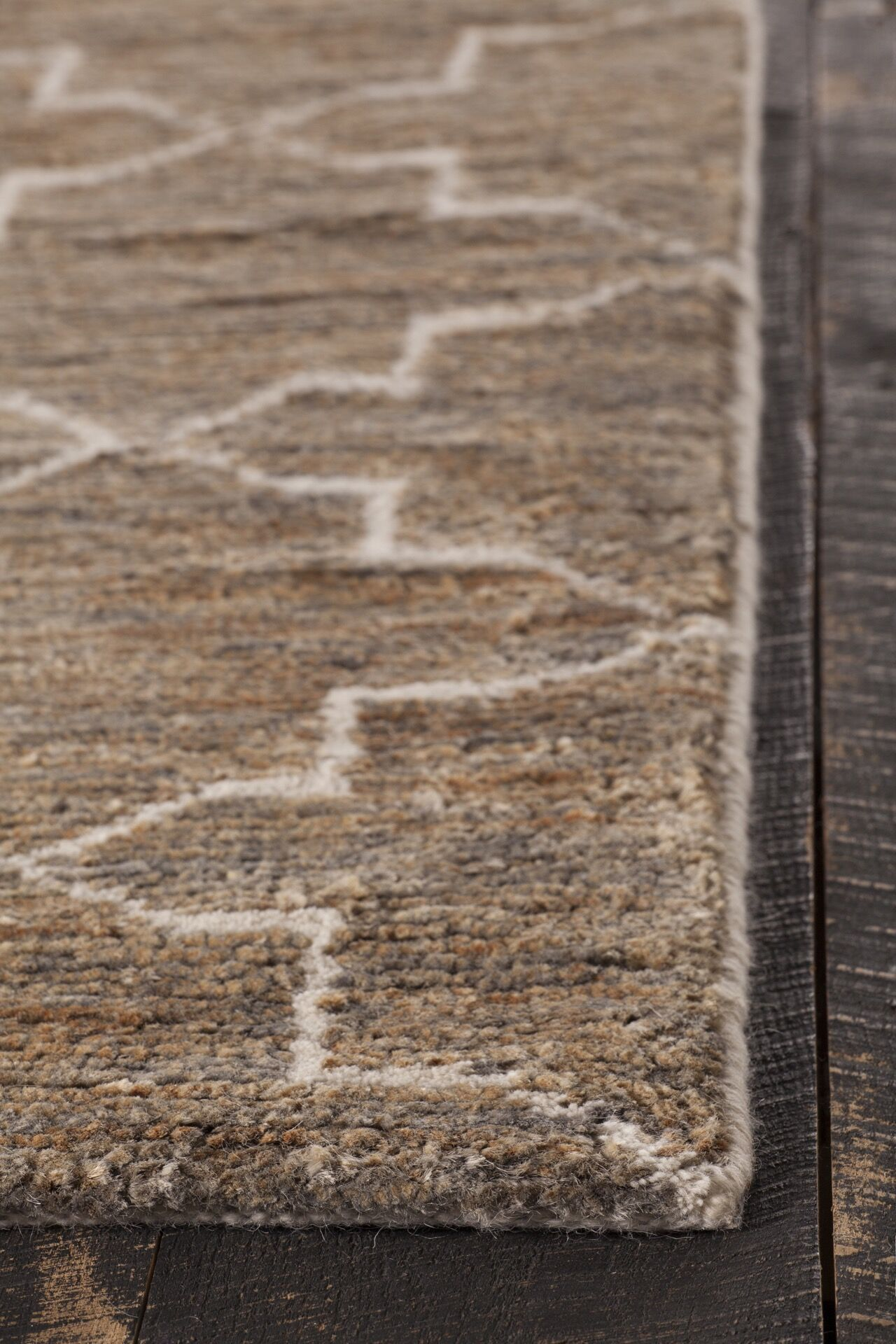 Levine Hand-Knotted Dark Brown Area Rug Rug Size: 7'9