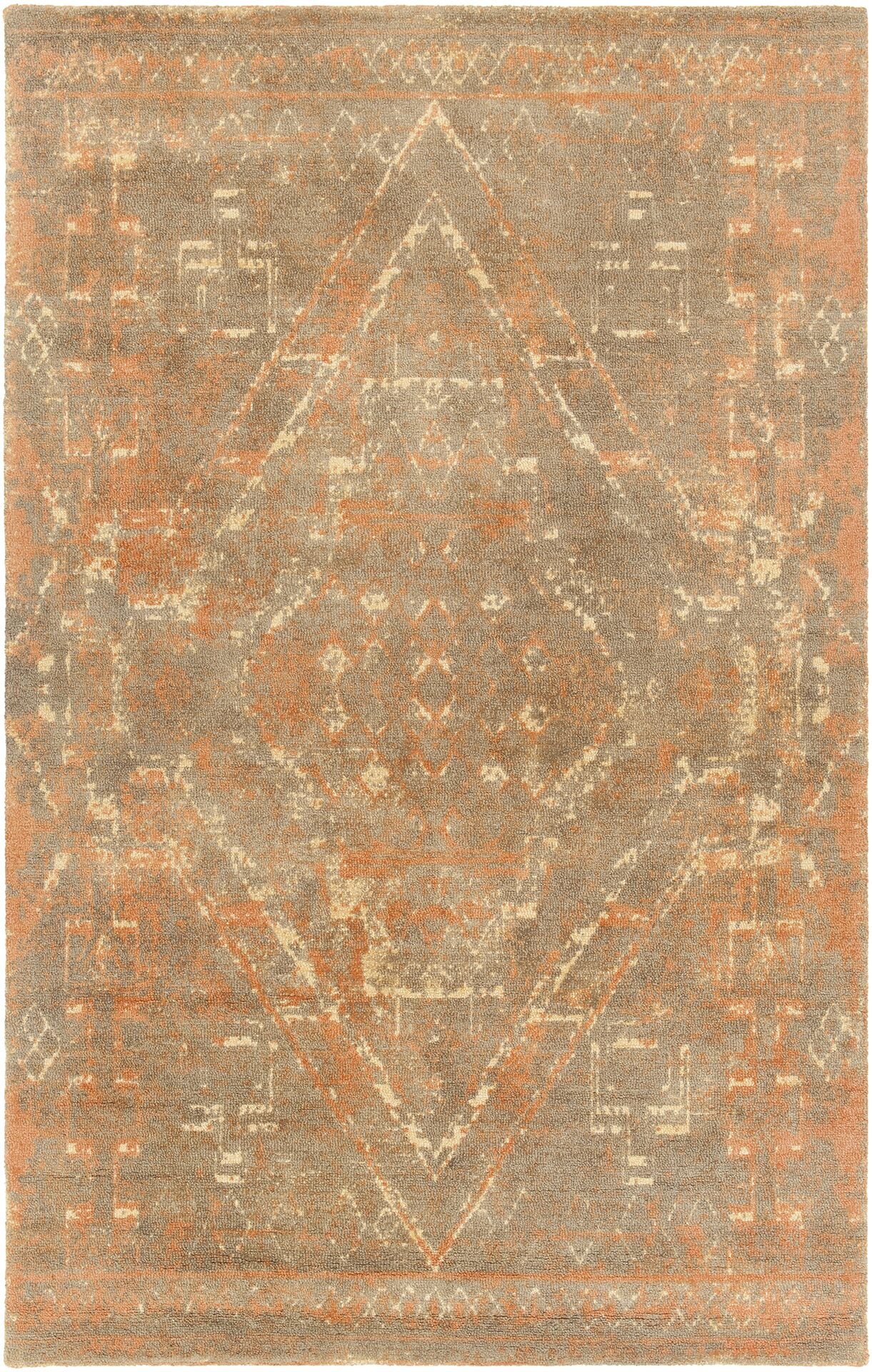 Cristal Hand-Tufted Rust/Brown Area Rug Rug Size: 5' x 7'6