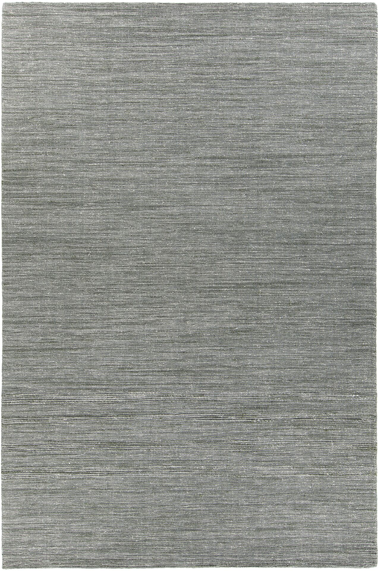 Laxford Hand-Woven Gray/Green Area Rug Rug Size: 5' x 7'6