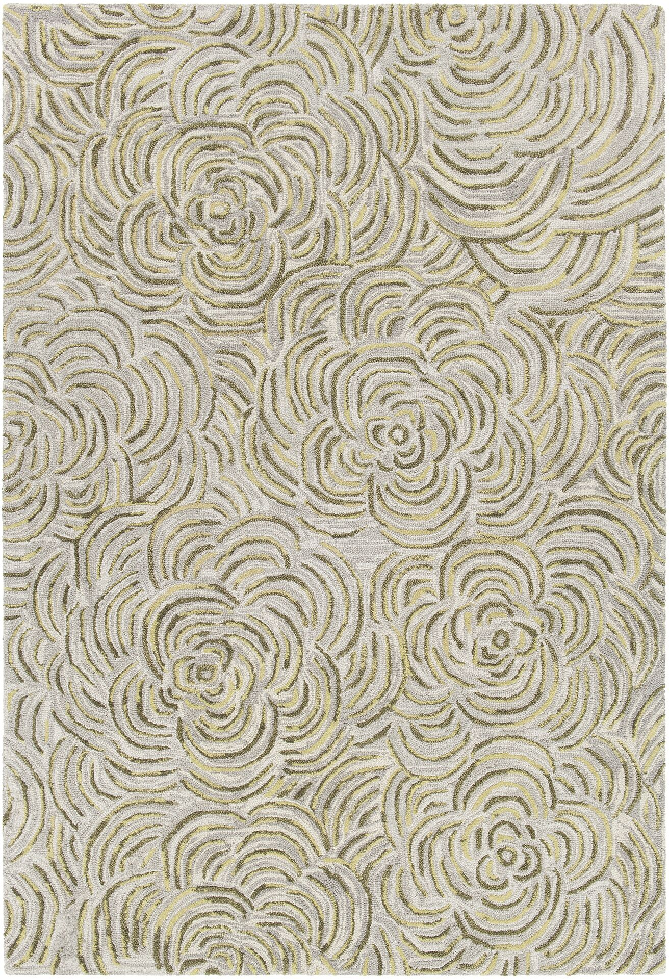 Wagstaff Hand-Tufted Green/Gray Area Rug Rug Size: 5' x 7'6