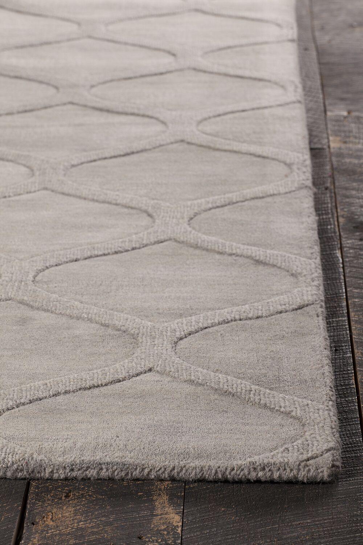 Raya Hand-Tufted Gray Area Rug Rug Size: 5' x 8'