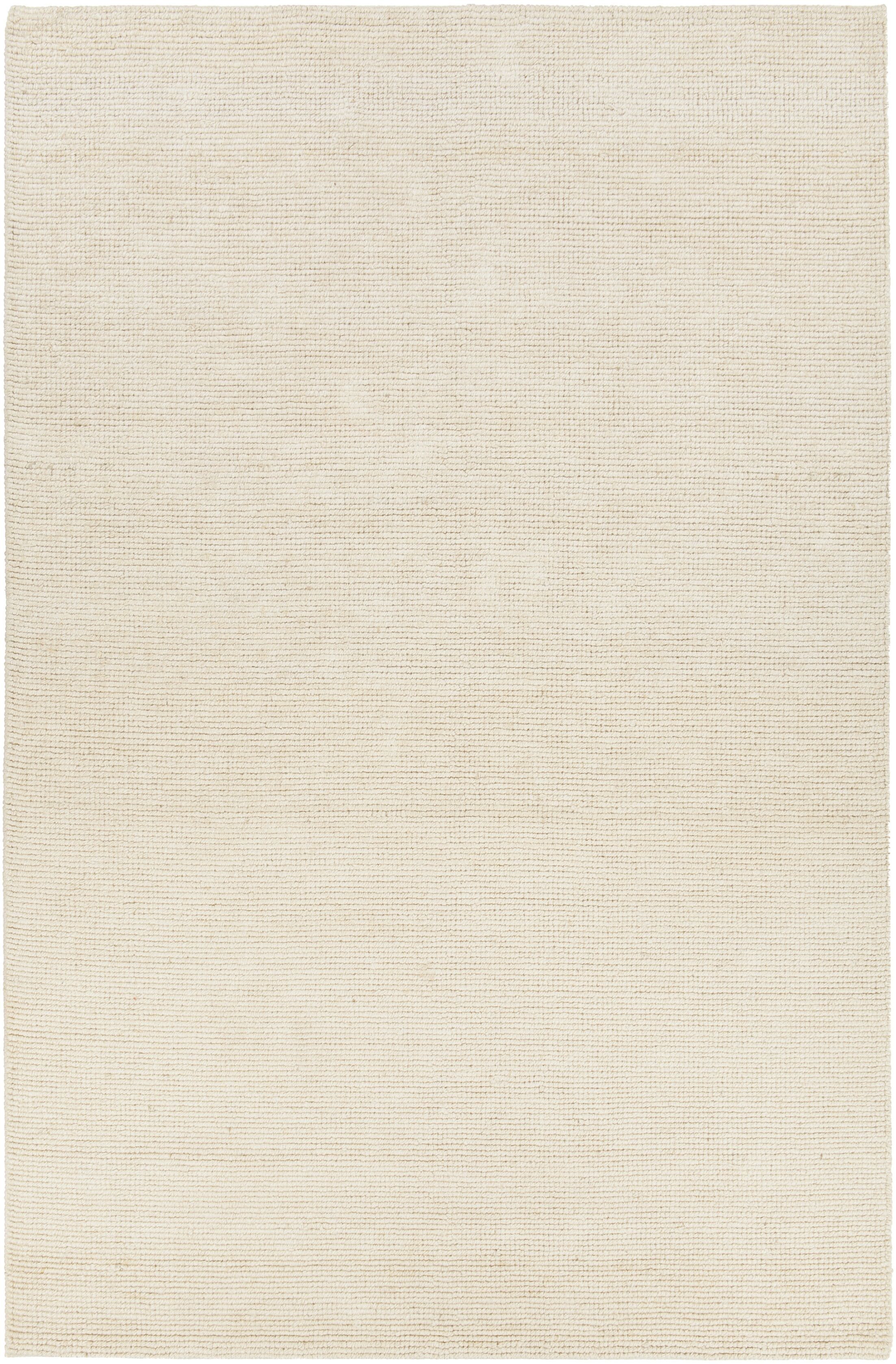 Tenth Avenue Hand-Woven White Area Rug Rug Size: 7'9
