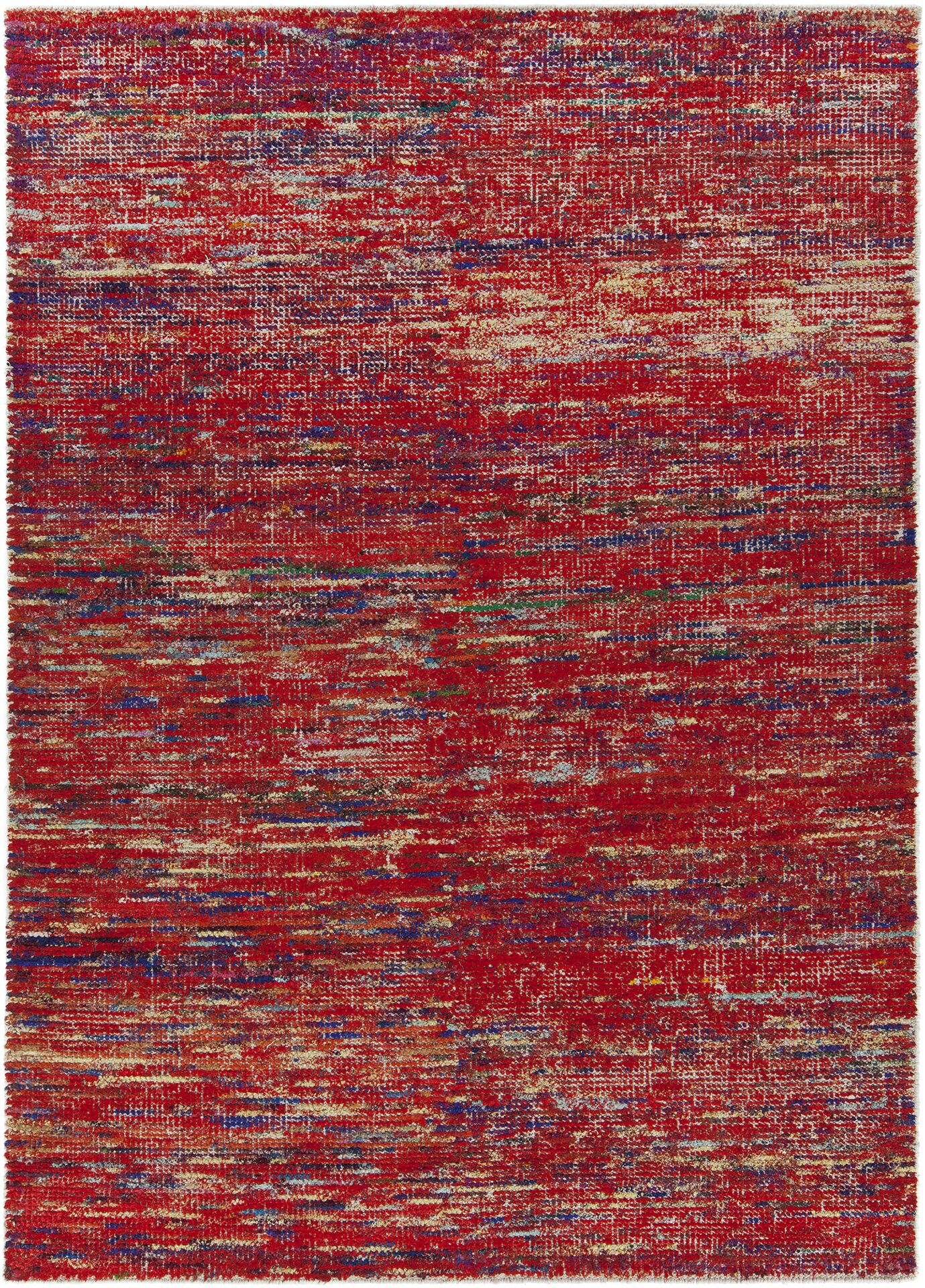 Marcial Hand-Woven Red Area Rug Rug Size: 7'9