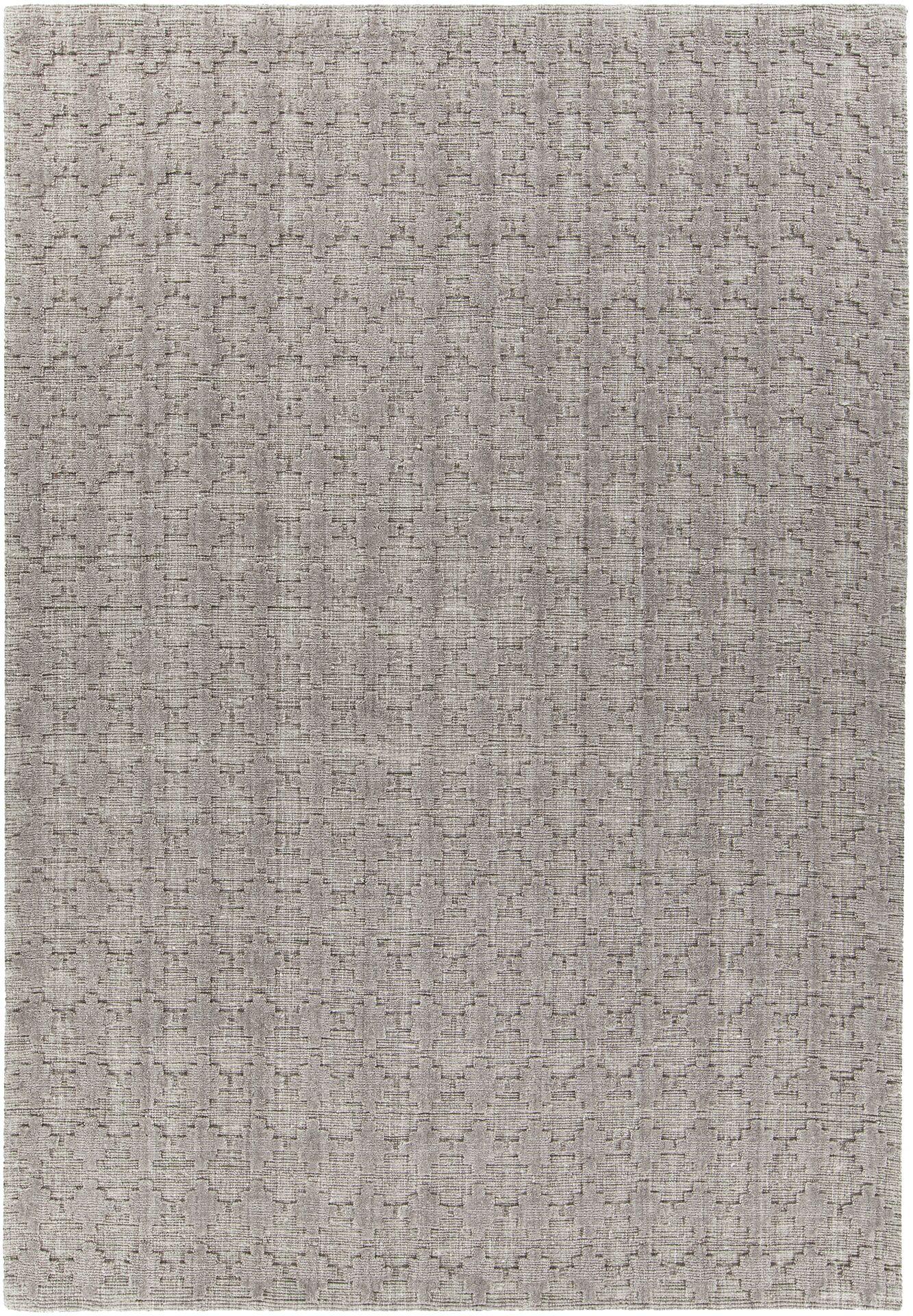 Tenleytown Hand-Woven Gray Area Rug Rug Size: 7'9